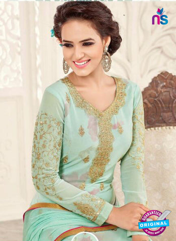 SC 14044 Sea Green Georgette Exclusive Fancy Designer Chudidhar Straight Suit
