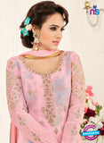 SC 14045 Pink Georgette Exclusive Fancy Designer Chudidhar Straight Suit