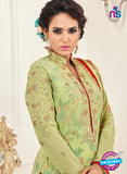 SC 14047 Green Georgette Exclusive Fancy Designer Chudidhar Straight Suit