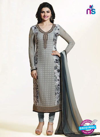 Vinay Fashion 4653 Grey Georgette Party Wear Suit