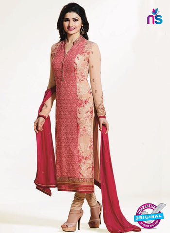 Vinay Fashion 4655 Peach Georgette Party Wear Suit