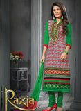 NS12282 Red and Green Straight Suit