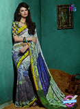 NS10232 Yellow and Multicolor Georgette Saree