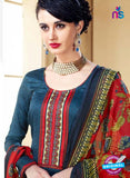 SC 14106 Blue Cotton Satin Plazo Suit Online