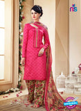 SC 14107 Pink Cotton Satin Plazo Suit