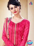 SC 14107 Pink Cotton Satin Plazo Suit Online