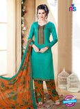 SC 14108 Sea Green Cotton Satin Plazo Suit