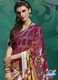 NS10234 Maroon and Multicolor Georgette Saree