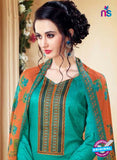 SC 14108 Sea Green Cotton Satin Plazo Suit Online