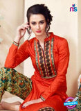SC 14105 Orange Cotton Satin Plazo Suit Online