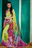 NS10237 Multicolor Georgette Saree