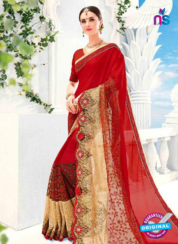 Kalista 4702 Maroon Party Wear Saree