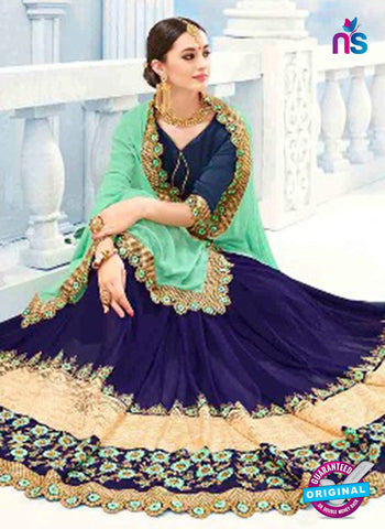 Kalista 4705 Blue Party Wear Saree
