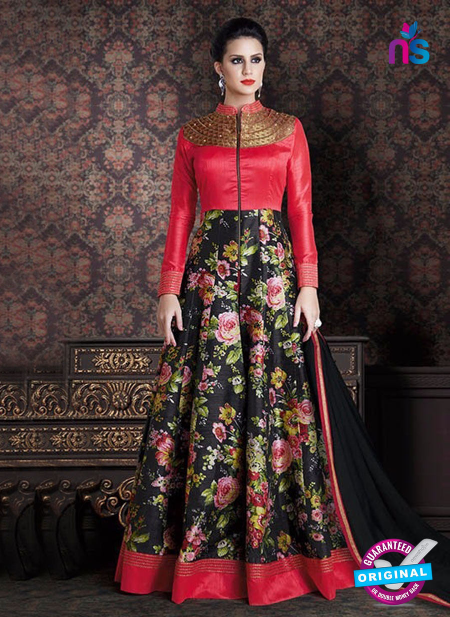 AZ 3382 -  Red Anarkali Suit