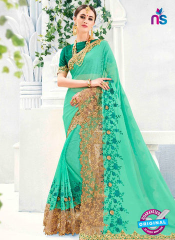 Kalista 4708 Sea Green Party Wear Saree
