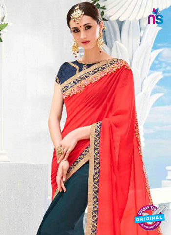 Kalista 4701 Orange Party Wear Saree