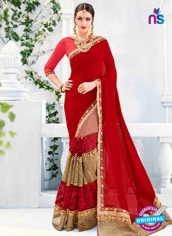 Kalista 4712 Red Party Wear Saree