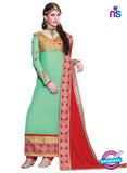 NS12238 Light Green and Red Straight Suit