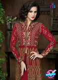 AZ 1003 Maroon and Brown Georgette Designer Suit - Salwar Suits - NEW SHOP