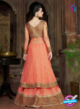 AZ 1007 Peach Georgette Designer Suit - Salwar Suits - NEW SHOP