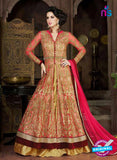 AZ 1009 Pink and Golden Net Designer Suit