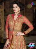 AZ 1009 Pink and Golden Net Designer Suit  Online