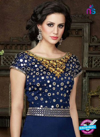 Golden Georgette Party Wear Gown