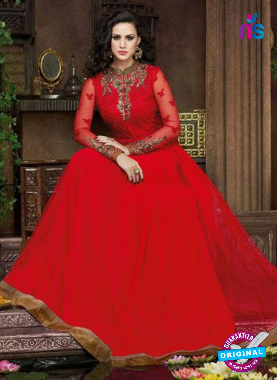AZ 1012 Red Net Designer Anarkali Suit