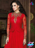 AZ 1012 Red Net Designer Anarkali Suit - Anarkali Suits - NEW SHOP