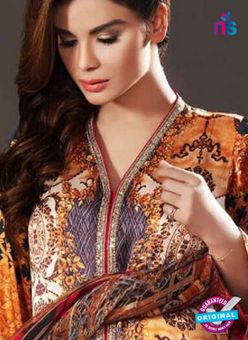 NS10635 Multicolor and Yellow Party Wear Printed Satin Pakistani Suit Online