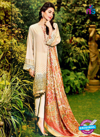 NS10970 Beige Embroidered Lawn Salwar Suit