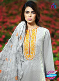 SC 13270 Grey Embroidered Cambric Lawn Cotton Pakistani Suit