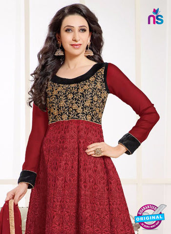 MF 50004 B Red Georgette Anarkali Suit