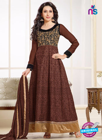 MF 50004 F Brown Georgette Anarkali Suit