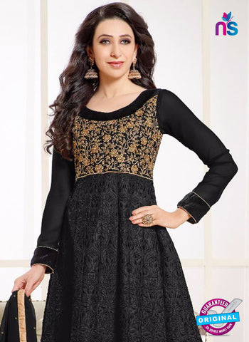 MF 50004 H Black Georgette Anarkali Suit
