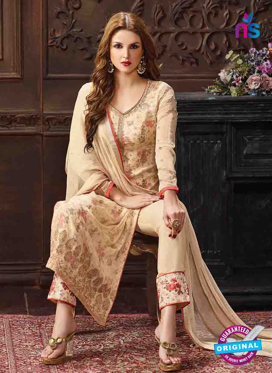 Fair Lady 5001 Beige Georgette Pakistani Suit