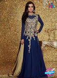 Blue Georgette Gowns Online