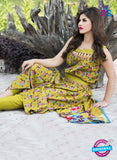 SC 13930 Yellow Glace Cotton Designer Salwar Suit
