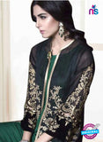 NS10692 Black Party Wear Faux Georgette Pakistani Style Suit
