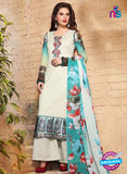 SC 13125 White and Multicolor Heavy Embroidered and Cotton Jacquard Pakistani Suit