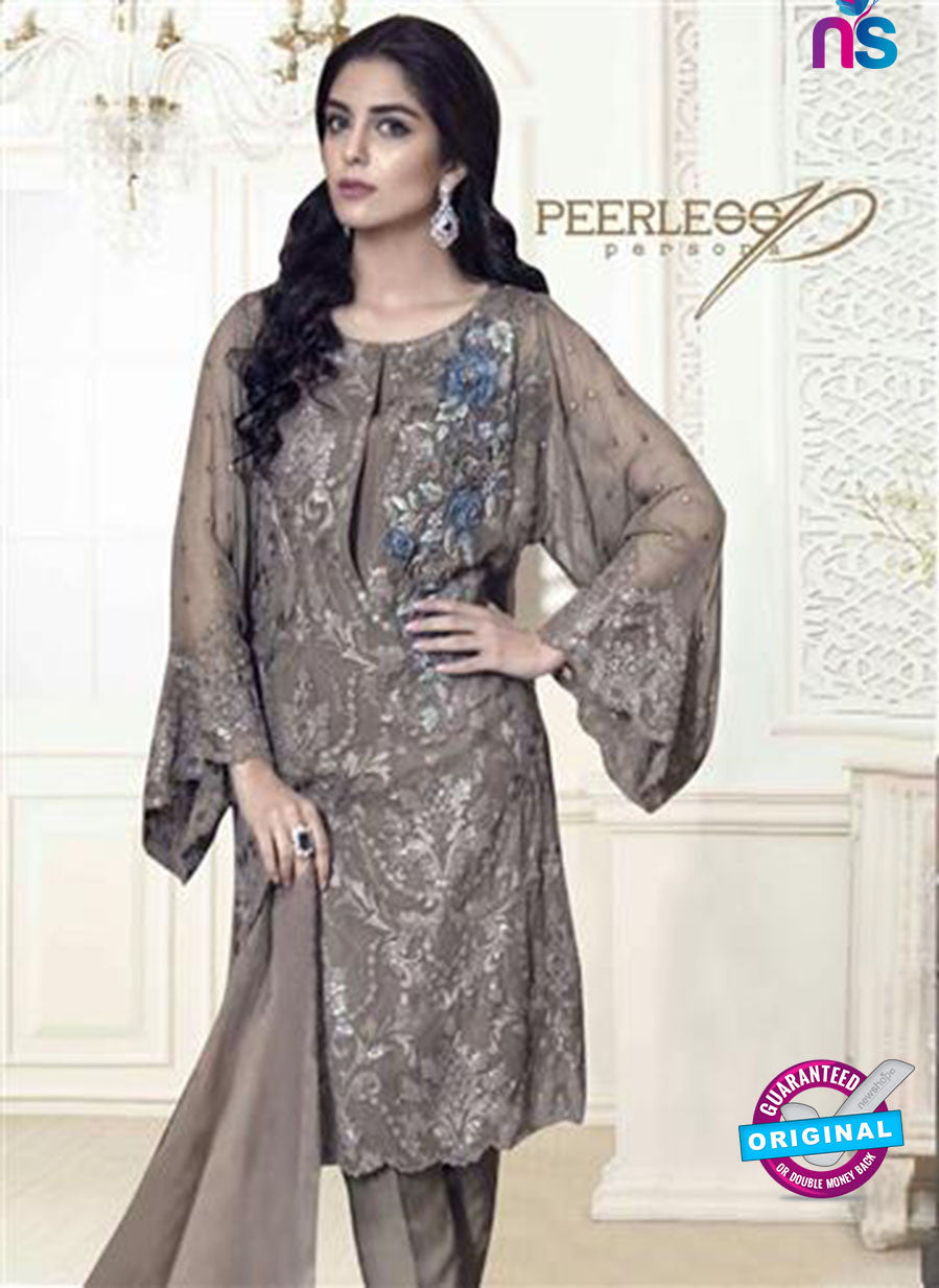 NS10693 Brown Party Wear Faux Georgette Pakistani Style Suit