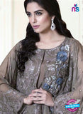 NS10693 Grey Party Wear Faux Georgette Pakistani Style Suit