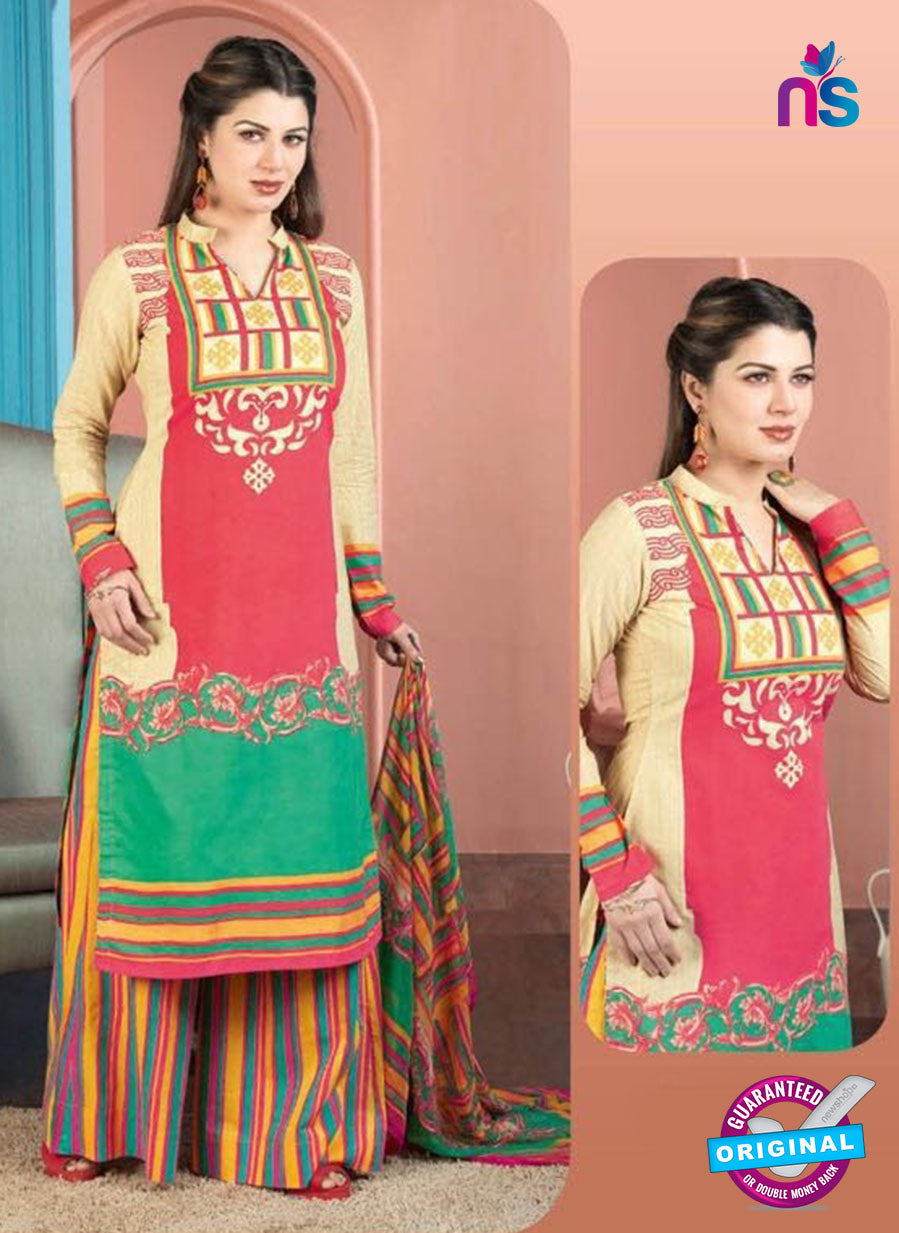 Rakhi 5008 A Red and multicolor Printed Cotton Suit