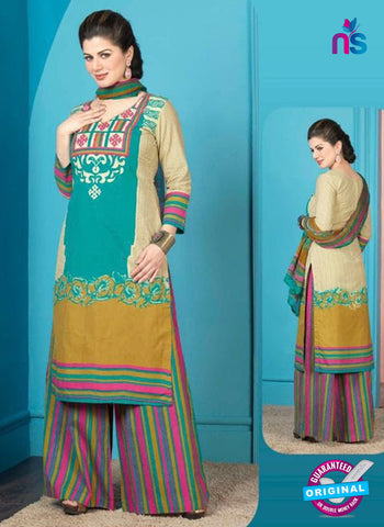 Rakhi 5008 B Blue and multicolor Printed Cotton Suit