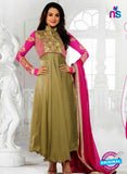 NS10890 Brown and Magenta Designer Georgette Anarkali Suit