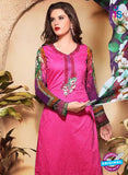 SC 13118 Magenta and Multicolor Heavy Embroidered Cotton Jacquard Pakistani Suit online