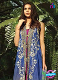 NS10539 Blue and Yellow Casual Glace Cotton Pakistani Suit