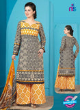 Rakhi 5011 A Black and Yellow Printed Cotton Suit