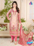 Rakhi 5015 A Peach and Multicolor Printed Cotton Suit
