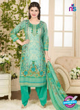 Rakhi 5015 B Green and Multicolor Printed Cotton Suit